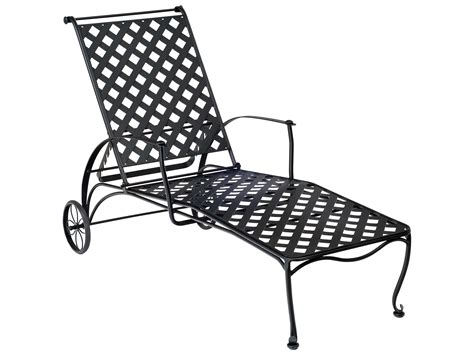 wrought iron chaise woodard maddox wrought iron adjustable chaise lounge 7f0070