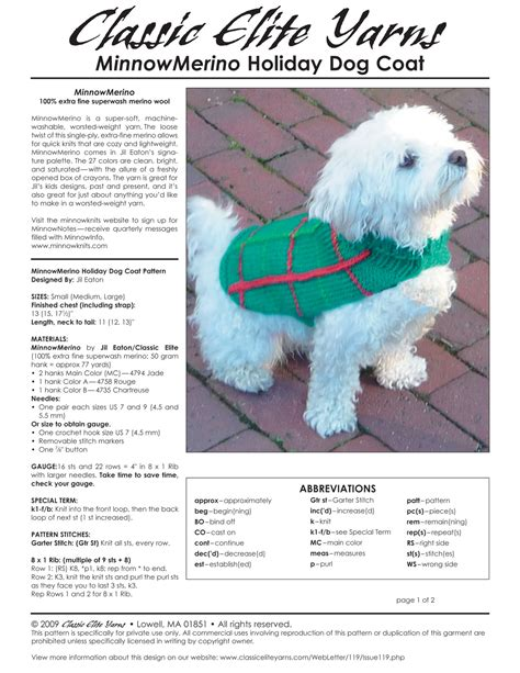 free crochet dog coat patterns free patterns