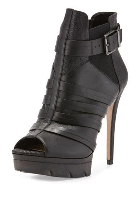 bcbg max azria bcbgmaxazria hesh leather open toe platform