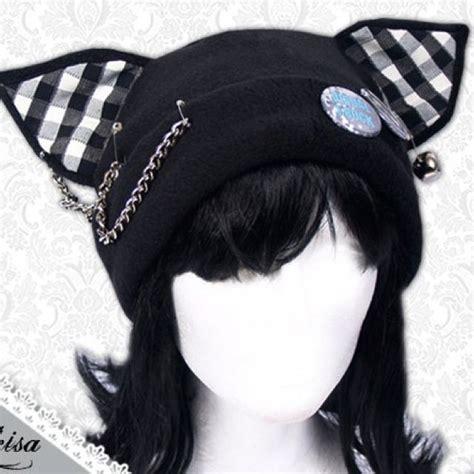 Black Beanie Cat Ear Wool Hat cat ear hat clothes ear hats cat ears