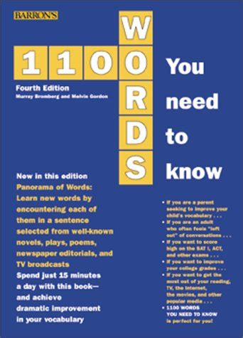 Barron S 1100 Words You Need To barron s educational series 1100 words you need to barron s 1100 words you need to