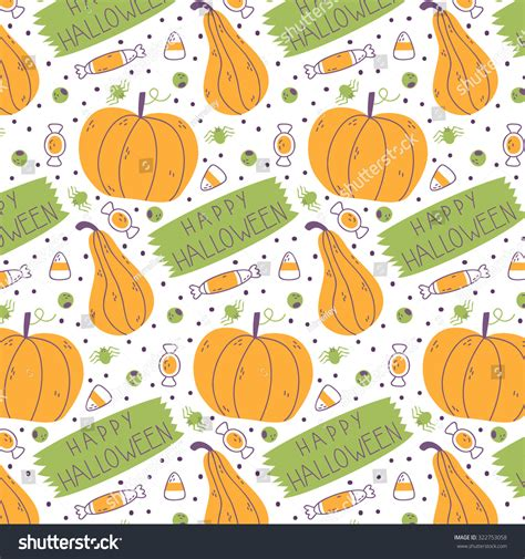 html pattern message cute cartoon halloween pattern with pumpkins sweets and