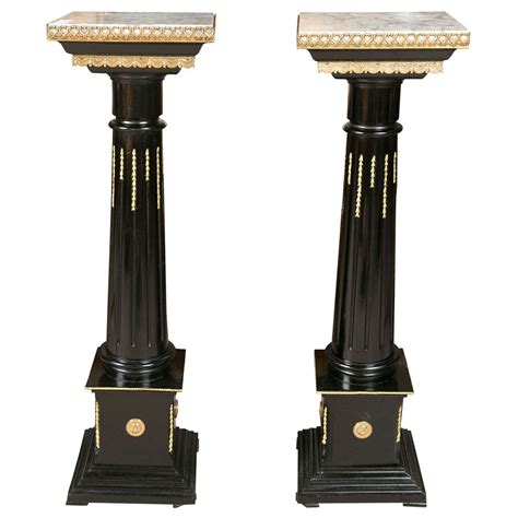 Pedestals And Columns Pair Of Louis Xvi Style Column Pedestals At 1stdibs