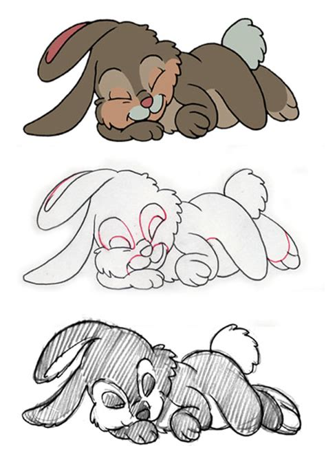 rabbit production ebook rabbit sketch pencil layout and finished cel animation