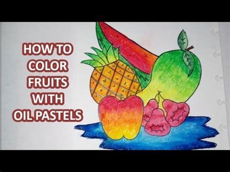 Tutorial Menggambar Buah Buahan | tutorial menggambar dan mewarnai buah menggunakan crayon