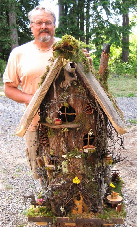 decorative fairy tree house with 3 fairy figurine outdoor unique and creative fairy gardens fairy tree stump and