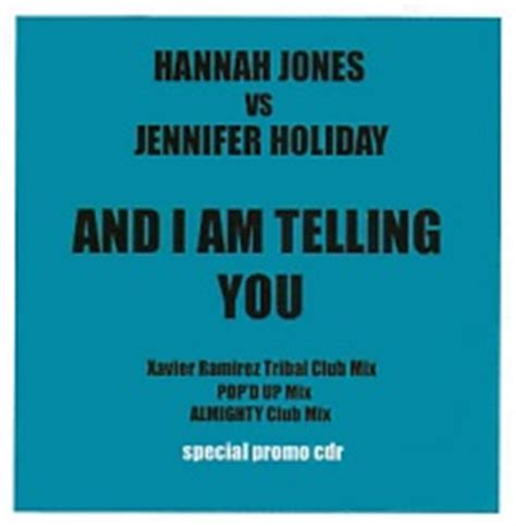and i am telling you jennifer holiday and i am telling you i m not going