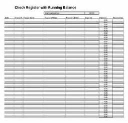 Checking Account Balance Sheet Template by Printable Check Register Checkbook Ledger