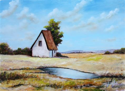 house paintings blue farm house oil painting fine arts gallery