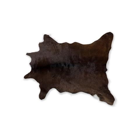 calfskin rugs chocolate 2 ft x 3 ft calfskin rug 676685034274 the home depot