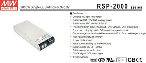 Power Suply 5v 80a Model Jaring Fan meanwell rsp 2000 24 80a 24v 12v 5v power supply for drive buy 12v 5v power supply for