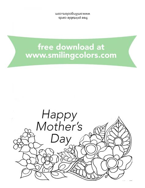 printable mothers day cards to color mothers day coloring cards free to print and color now