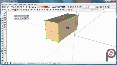 sketchup layout scale image sketchup how to use the scale tool youtube