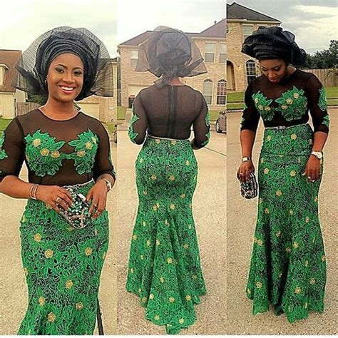 latest nigerian lace styles and designs hello beautiful ladies this is a combination of green aso