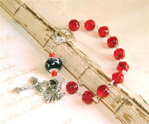 Handmade Rosary Bracelets - beautiful black rosary bracelet handmade felt