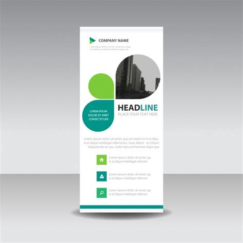 roll up business template in leaf style vector free download