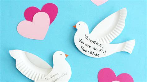 paper plate dove valentines martha stewart