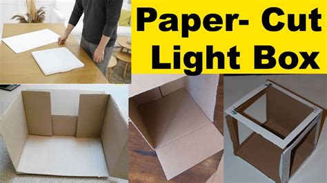 How To Make A Paper Lighter - how to make a paper cut light box