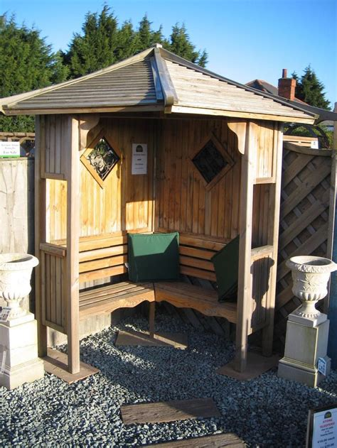 backyard gazebo ideas quiet corner corner garden arbour seat free delivery and assembly for