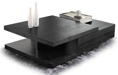 contemporary black veneer coffee table nikaho modern
