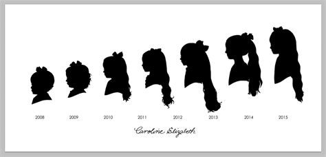7 in years paper scissors silhouettes cut by a portrait artist for events weddings