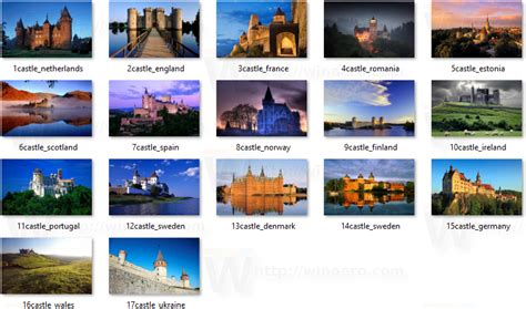 windows 7 themes photo locations castles of europe theme for windows 10 8 and 7