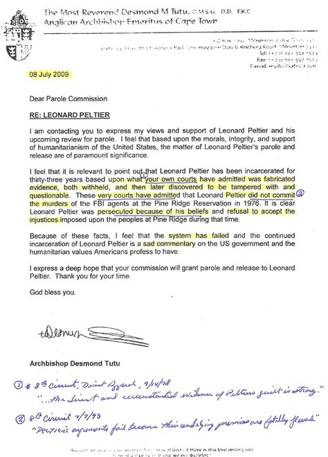 Parole Support Letter From Employer The Debate Continues Leonard Peltier No Parole Peltier Association Nppa
