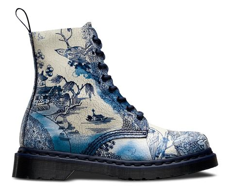 blue pattern dr martens dr martens canada dr martens pascal in white navy