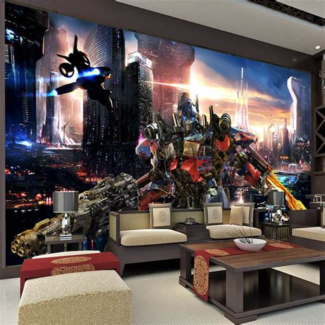 transformers bedroom decor transformers optimus prime wallpaper movies wall mural 3d