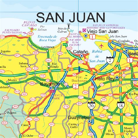 printable puerto rico road map maps for travel city maps road maps guides globes