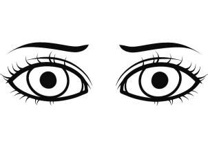 How To Draw Eyes For Kids Step By Step People For Kids Eye Coloring Pages