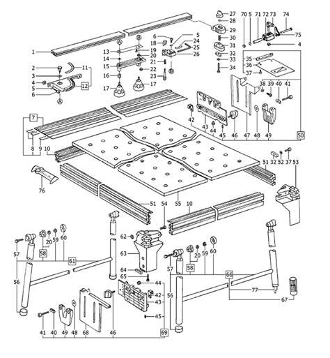 table l parts diagram festool mft 1080 490916 multifunction table parts