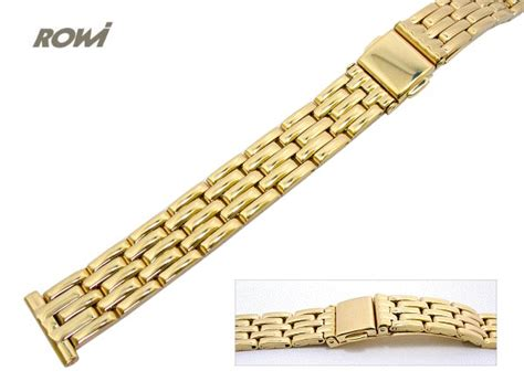 Metall Uhr Polieren by Uhrenarmband 14mm Edelstahl Gold Rowi Poliert Modisches Design