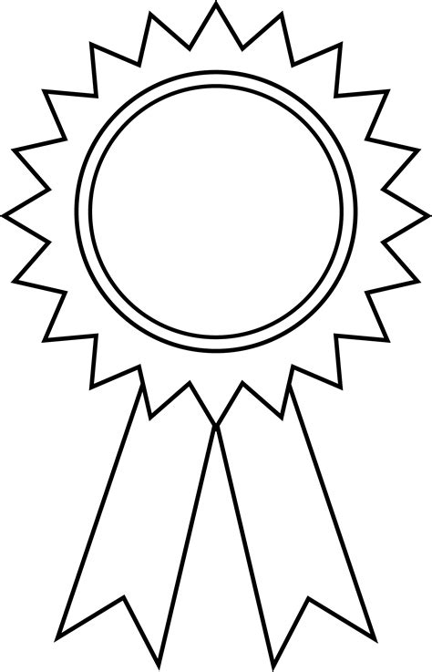 coloring page prize ribbon award ribbon outline free clip art