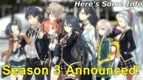 oregairu season  announced youtube