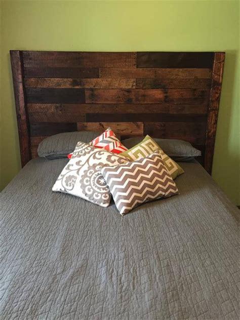 queen size headboard diy pallet queen size bed headboard pallet furniture diy