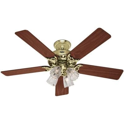 Home Depot 52 Ceiling Fans by Studio Series 52 In Bright Brass Ceiling Fan 53066
