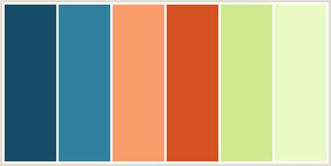color combinations with orange colorcombo226 with hex colors 184d68 31809f fb9c6c