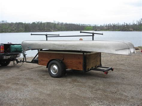 canoes trailers bwca canoe rack on snowmobile trailer boundary waters