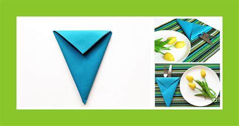 Servietten Falten Geburtstag by Servietten Falten Blaue Bestecktasche