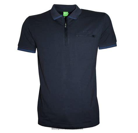 Ziper Polos hugo philix navy half zipper polo shirt polo shirts