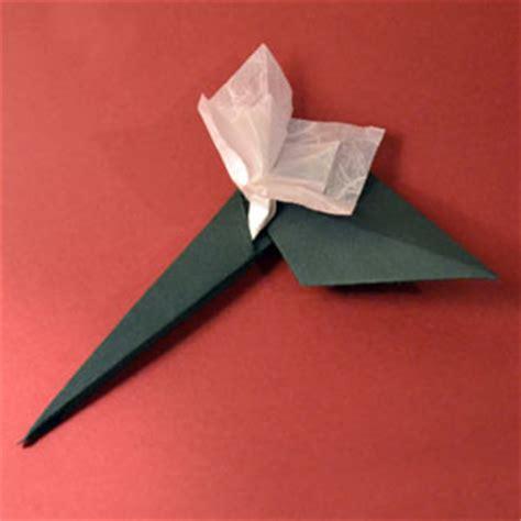 Origami Stem And Leaf - origami leaf stem