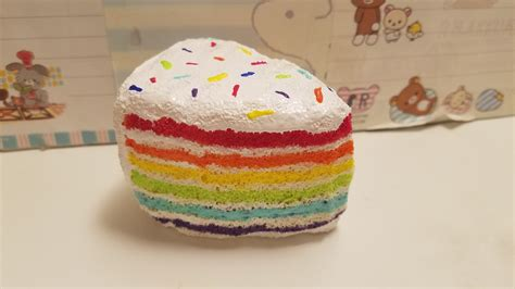 Squishy Hello Cake No rainbow cake squishy 183 squishy boba cafe 183