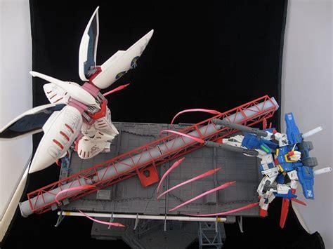 Hg Gundam Zz By Gundam Workshop 1 144 gunpla diorama zz gundam vs qubeley photoreview no