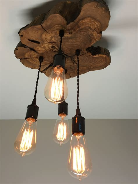 Kitchen Light Fixtures Ideas live edge olive wood light fixture modern midwest