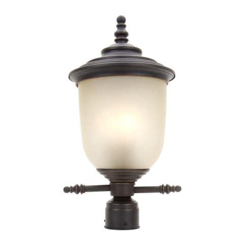 3 light l post hton bay chelsea 3 light mediterranean bronze outdoor