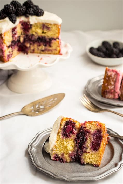 blackberry lemon naked cake the girl in the little red
