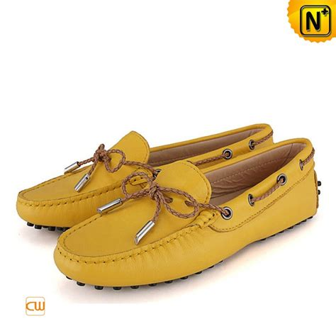leather tods moccasin shoes cw314029