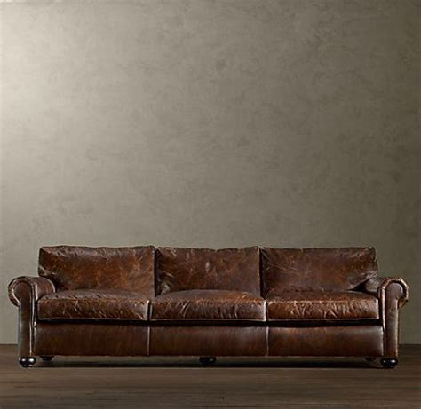restoration hardware couches leather restoration hardware lancaster leather sofa this