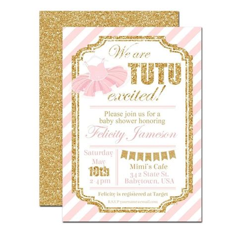 Tutu Baby Shower Invitations by 10 Best Ideas About Tutu Baby Showers On Baby